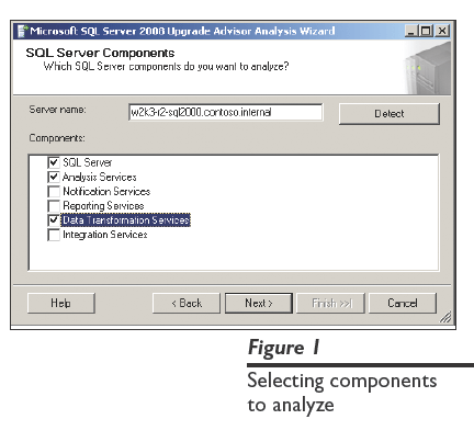 Figure 1: Selecting components to analyze